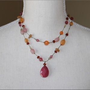 Pretty Pink Beaded Necklace